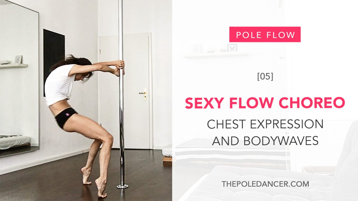 Sexy Pole Flow Choreography tutorial for upper body exprression